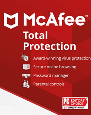 McAfee Total Protection 3-PC 1 year
