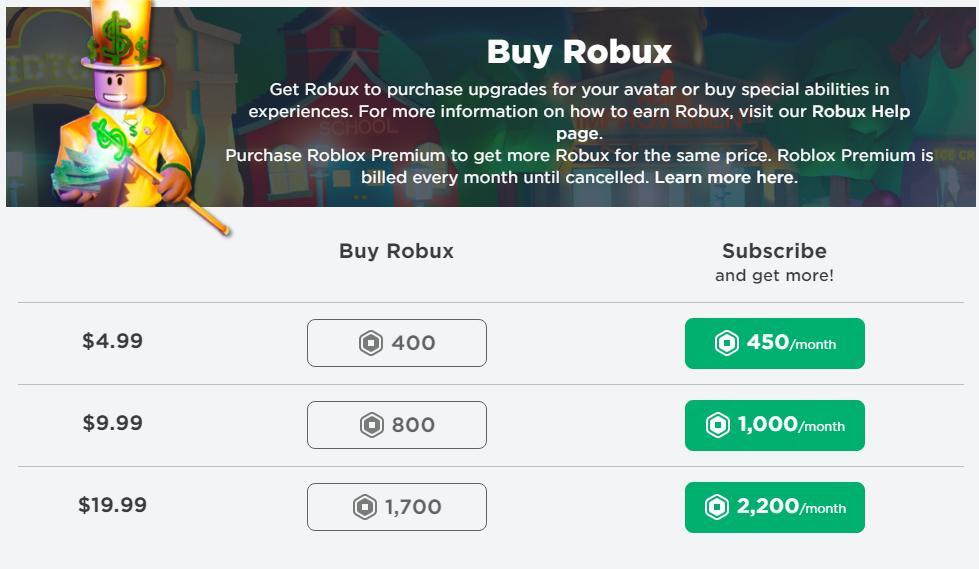 Robux Satın Al